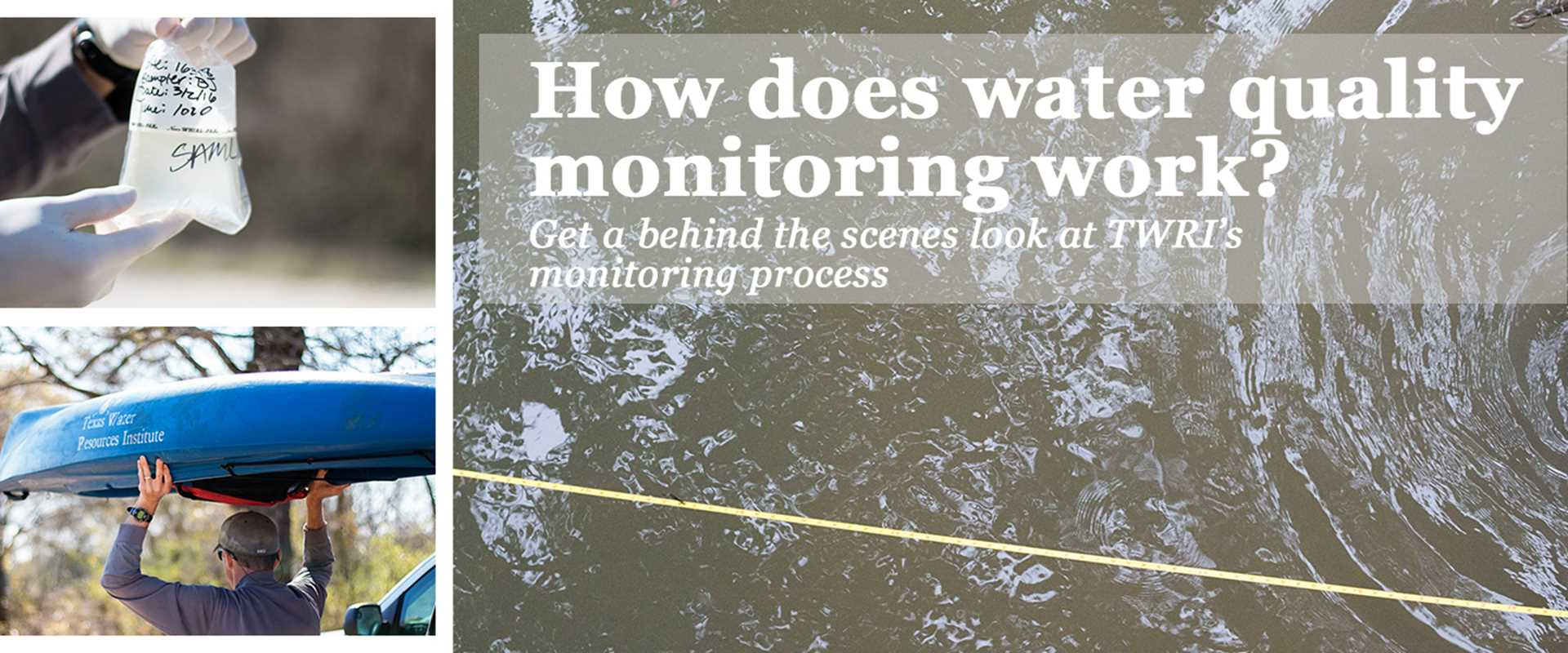 How does water quality monitoring work?