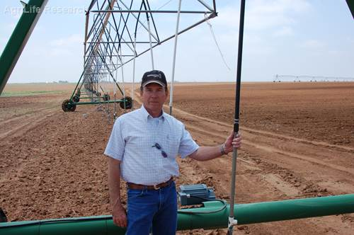 Jim Bordovsky, senior research scientist and agricultural engineer with AgriLife Research at Halfway, says irrigation efficiency for cotton has increased but there are more opportunities for water savings.