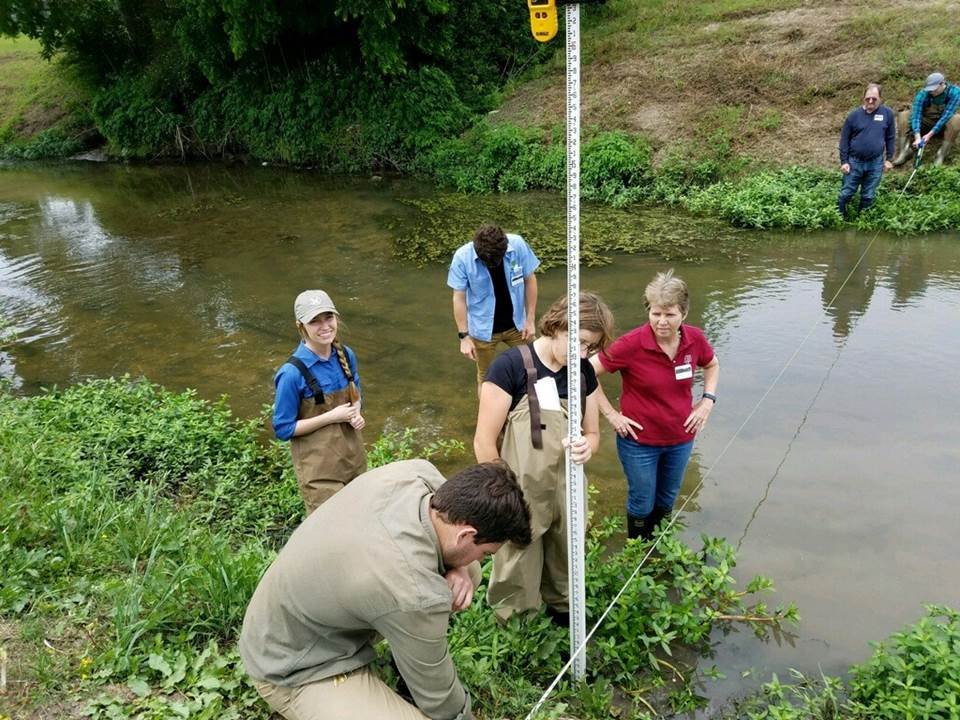 Attendees learn stream survey techniques at the Urban Stream Processes and Restoration training in Pearland.